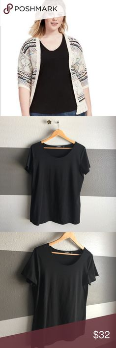 "Elementz Black Scoop Neck Wear this Elementz Blouse with confidence. The material is a thicker style to ""shape/form"" to your curves and keep them put. Perfect to layer or pair with your favorite bottoms. Elementz Tops Blouses"