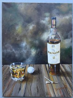 Acrylic Painting, Scotch and Golf, June 2015