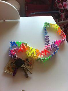 Det kreative hjørne: DIY - nøglekæde af hama perler