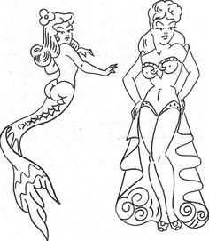 The 15 Most Iconic Sailor Jerry Pin-Up Tattoos Mermaid tattoo Dragon Tattoo Back Piece, Dragon Sleeve Tattoos, Pin Up Girl Tattoo, Pin Up Tattoos, Tatoos, Dream Tattoos, Monami Frost, Traditional Tattoo Pin Up, Sailor Jerry Flash
