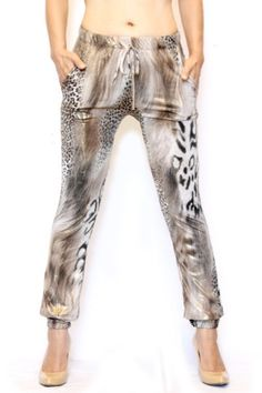 Brown and Gold Animal Print Joggers Animal Print Outfits, Joggers, Brown, Coat, How To Wear, Animals, Clothes, Fashion, En Vogue