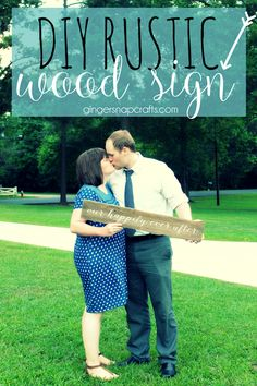 DIY Rustic Wood Sign at GingerSnapCrafts.com #