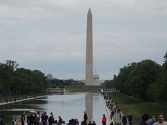 Reflection pool, Washington Monument & Capitol, Washington, DC