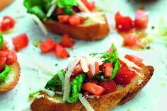 Bruschetta med tomat, basilika och parmesan