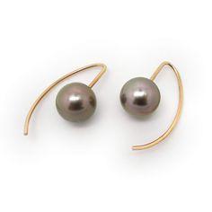 ORRORose Gold& Tahiti Pearl Drop Earrings Guide Price: Tahiti Drop Earrings18ct Rose goldLarge round Tahiti pearls£495,-