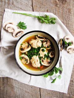 chicken dumpling soup / bouillon de poulet avec des quenelles de volailles | Little Paris Kitchen