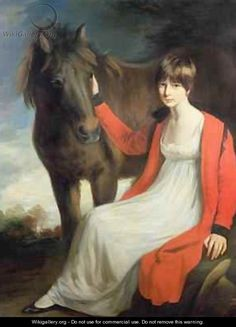 Miss Emily Beauchamp with her Pony, by John Opie