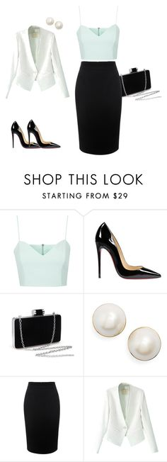 """Untitled #2"" by celia-trandafir on Polyvore featuring Topshop, Christian Louboutin, Kate Spade and Alexander McQueen"