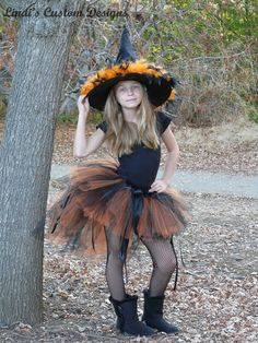 Halloween Tulle Tutu Bustle Style Witch Costume par sweethearttutus