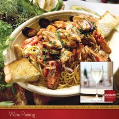 Are you holiday dining this weekend? Chef Anthony's got a tip:  Excite the flavors of pasta di mare with the mouthwatering freshness of pinot grigio.