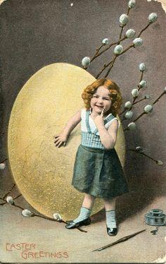 Vintage Easter Postcard c 1908