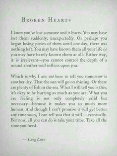 Broken heart quotes.
