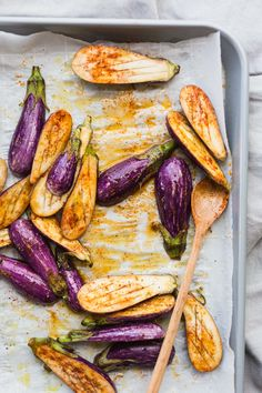 Love the simplicity of this! Roasted eggplants with a little smoked paprika and olive oil.