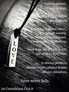 1st Corinthians 13:4-8