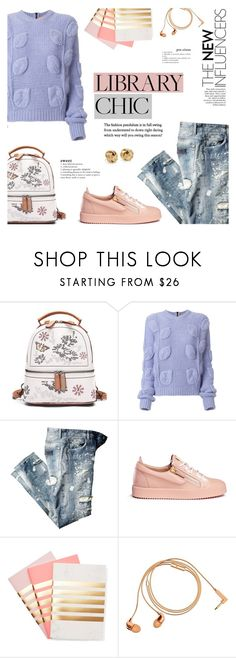 """""""Work Hard, Play Hard: Finals Season"""" by milica1940 ❤ liked on Polyvore featuring N°21, Giuseppe Zanotti, StudioSarah, Happy Plugs and Blue Nile"""