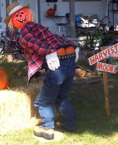 Picture of Funny Scarecrow Halloween Decoration Halloween Scarecrow, Fall Halloween, Halloween Crafts, Scarecrow Ideas, Halloween Party, Halloween Ideas, Funny Halloween, Halloween Costumes, Halloween Makeup