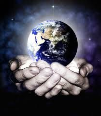 He has the whole world in His hands :D