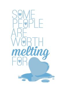 frozen.. some people are worth melting for... olaf funny quote Art Print