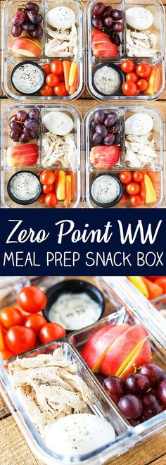 Protein Fruit and Veggie Meal Prep Bistro Box - Zero Weight Watchers Freestyle Points Protein Fruit, Protein Lunch, Weight Watchers Breakfast, Weight Watchers Meal Plans, Weight Watchers Fruit Dip Recipe, Weight Watcher Points, Weight Watcher Snacks, Weight Watchers Recipes, Weight Watchers Success
