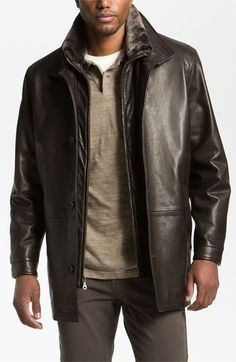 Remy Leather Calfskin Leather Jacket available at Nordstrom