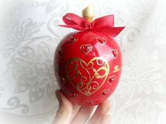 Ring bearer box wedding ring box wooden apple box by GattyGatty