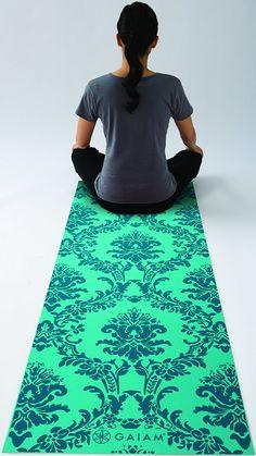 Gaiam Yoga Mat - Classic Print Thick Non Slip Exercise & Fitness Mat for All Types of Yoga, Pilates & Floor Workouts x x Floor Workouts, Types Of Yoga, Mat Exercises, Pilates, Beach Mat, Outdoor Blanket, Marrakesh, Flooring, Classic