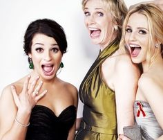 Lea Michele, Jane Lynch and Dianna Agron