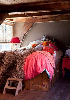 Winter Woontrend 2013-2014: Tartan Twist! Mode & Interieur met Ruiten in Meubels en Woonaccessoires in de Slaapkamer! Sonia Rykiel Pied de P...