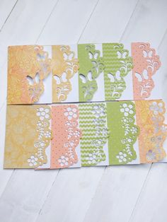10 Cut Out #Mini Cards #ButterfliesFlowers #Gift Cards by @Vikster @etsy