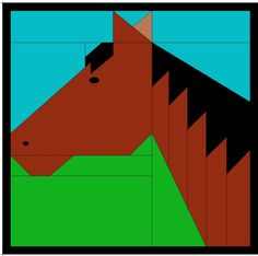 New patchwork animals horse quilt ideas Bargello Quilts, Star Quilts, Mini Quilts, Baby Quilts, Quilt Blocks, Barn Quilt Designs, Barn Quilt Patterns, I Spy Quilt, Rag Quilt