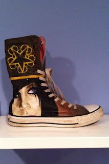 23e401898b4709 Get Your Kicks On Handpainted Shoes  Black Veil Brides - Andy Sixx