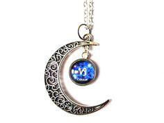 Gliederketten - Kette Sternzeichen Steinbock & Name in Mond - ein Designerstück von csoMunich bei DaWanda