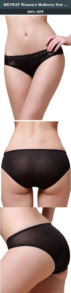 64257622f934 METWAY Women's Mulberry New Silk Translucent Lace L-rise Panties (X-Large,