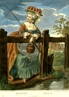 It's About Time: August 1781 - August Fishing The Twelve Months print Carington Bowles (Published by) Robert Dighton (After) Richard Earlom (Print made by) 1781 London