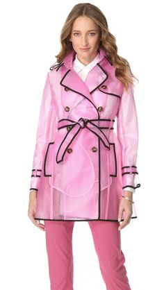 It would match my hot pink rain boots! RED Valentino Transparent Raincoat