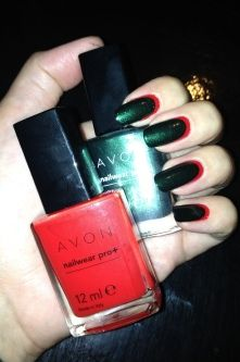 Ruffain nails done with Avon polishes  To order visit my website  http://www.youravon.com/janetp
