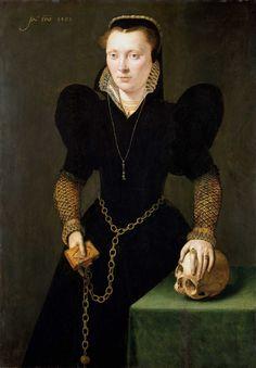 Portrait de Katherine de Berain, née Clough, 1568 attribué à Adriaen van Cronenburgh