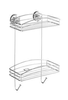 WENKO Vacuum-Loc Wandregal 2 Etagen Befestigen ohne bohren  Description: Vacuum-Loc Produkte für Ihr Bad! Das neue Sortiment umfasst Haken Duschabzieher Seifenablagen Haartrockner- und Toilettenpapierhalter die einfach in die Adapter eingehängt und direkt belastet werden können. Die Vacuum-Loc Serie aus hochglanzpoliertem verchromtem Stahl bietet außerdem eine große Auswahl an geräumigen Wandablagen die für zusätzlichen Stauraum im Bad sorgen. Das Vacuum-Loc Wandregal bietet starken Halt und…