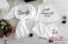 There are plenty of fun bachelorette party ideas that you can implement into your bash. Let the bride get wild one last time before her big day. Bridal Party Robes, Gifts For Wedding Party, Party Gifts, Bridal Gifts For Bride, Wedding Ideas, Honeymoon Gifts, Honeymoon Clothes, Honeymoon Outfits, Honeymoon Lingerie