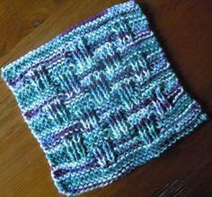 dishcloth knitting pattern; shingle stitch dishcloth