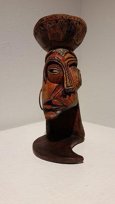 "Abebe Zelelew, ""Fruit Seller"", mixed media on wood."