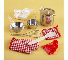 Kids' Kitchen & Grocery: Kids Child Size Kitchen Utensils and Cooking Set