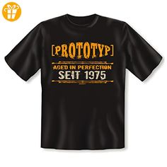 zum 42 Geburtstag Geschenk - lustiges T-Shirt 42 Jahre Prototyp Jahrgangs Shirt 1975 - für Männer cooles vintage Design Gr. 5XL in schwarz : ) - Shirts zum geburtstag (*Partner-Link)