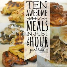 10 Meals in an Hour Coconut Lime Chicken Easy Slow-Cooked Ribs Easy Honey Dijon Chicken Easy Freezer Pulled Pork Hawaiian Chicken Slow Cooker Freezer Meals, Make Ahead Freezer Meals, Freezer Cooking, Quick Meals, Batch Cooking, Dump Meals, Crockpot Recipes, Cooking Recipes, Healthy Recipes