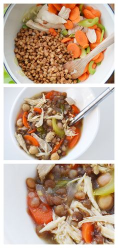 Lentil Soup Recipe – Warm, delicious and easy. Grab this recipe and learn more a… Lentil Soup Recipe – Warm, delicious and easy. Grab this recipe and learn more about the wonderful health benefits of the lentil! Real Food Recipes, Cooking Recipes, Healthy Recipes, Healthy Meals, Lentil Soup Recipes, Brunch, Soup And Sandwich, Soup And Salad, Soups And Stews