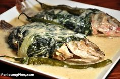 Sinanglay is a dish wherein fish (such as tilapia) is cooked in coconut milk. This dish is somewhat similar to Ginataang Tilapia. However, certain ingredients and procedure differentiates this dish from the later.