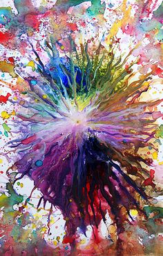 A fun image sharing community. Explore amazing art and photography and share your own visual inspiration! Art Amour, Art Watercolor, Watercolor Splatter, Splatter Art, Encaustic Art, Crayon Art, Art Design, Art Techniques, Love Art