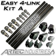 Artec Industries Easy 4 Link - Kit A - Triangulated Uppers