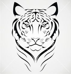 tiger face clipart black and white stock vector roaring tiger s head roaring tiger head. Black Bedroom Furniture Sets. Home Design Ideas