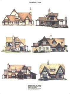 Six Color Elevations: on deviantART - Character Design References Casa Medieval Minecraft, Medieval Houses, Medieval Town, Fantasy City, Fantasy House, Fantasy Places, Level Design, Bg Design, Building Concept